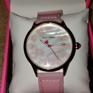 Betsey Johnson Summertime pink silicone watch